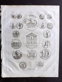Wells 1817 Anique Coin Print. Epehsus, Turkey