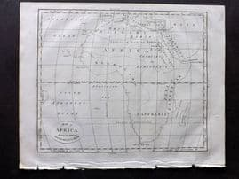 Wells 1817 Anique Map of Africa shewing the supposed settlements of Ham