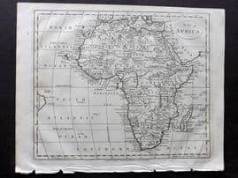 Wells 1817 Anique Map of Africa.