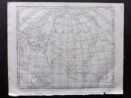 Wells 1817 Anique Map of Asia, shewing the Supposed Situation of Paradise