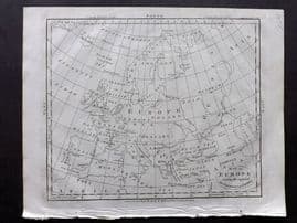 Wells 1817 Anique Map of Europe shewing the supposed Settlements of Japhet