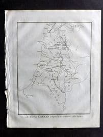 Wells 1817 Anique Map. A Map of Canaan adapted to the Gospel History