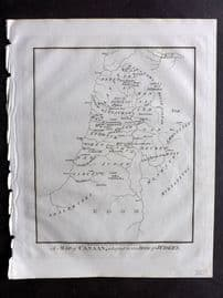 Wells 1817 Anique Map. A Map of Canaan, adaptedd to the Book of Judges