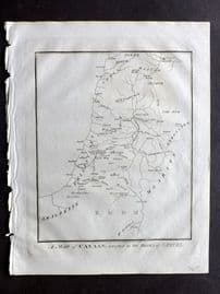 Wells 1817 Anique Map. A Map of Canaan, adaptedd to the Books of Samuel