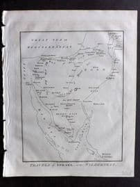Wells 1817 Anique Map. Travels of Israel, in the Wilderness