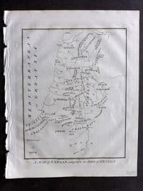 Wells 1817 Map. A Map of Canaan adapted to the Book of Genesis. Israel Holy Land