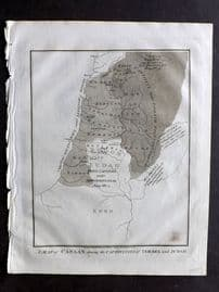 Wells 1817 Map. A Map of Canaan shewing the Captivities of Israel and Judah