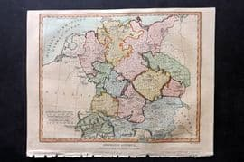 Wilkes C1810 Hand Col Map. Germania Antiqua. Ancient Germany