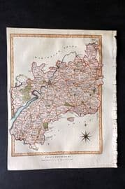 Wilkes C1810 Hand Col Map. Gloucestershire