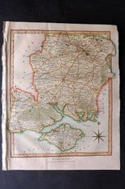 Wilkes C1810 Hand Col Map. Hampshire