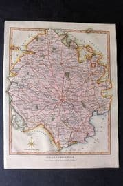 Wilkes C1810 Hand Col Map. Herefordshire