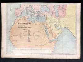 William Collins (Pub) C1870 Antique Map. Geography of the Hebrews. Holy Land
