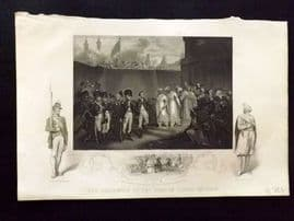 Williams 1857 Antique Print. The Surrender Of Two Sons Of Tippoo Sultaun. India