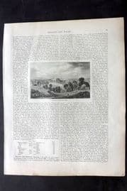 Blackie 1882 Antique Print. The Thames from Richmond Hill