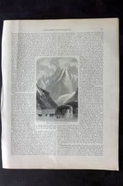 Blackie 1882 Print Conical Peaks of Admiralty Strait, Tierra del Fuego Argentina