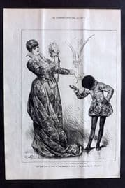 "ILN 1880 Miss Ellen Terry as Portia in ""The Merchant of Venice"" Lyceum Theatre"