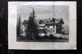 ILN 1880 Print. Villa Hohenlohe, Baden-Baden , Occupied by the Queen. Germany