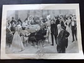 The Graphic 1897 LG Print. Gambling at Ostend. Club Prive of the Kursaal. Casino