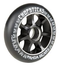 Chopsticks Scooter Wheel Panda Bears 100mm- Black