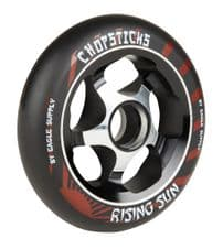 Chopsticks Scooter Wheel Rising Sun 110mm - Black (single wheel)