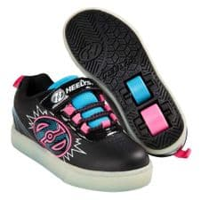 Heelys Pow Light - Black Neon Blue/Pink - Junior UK 13
