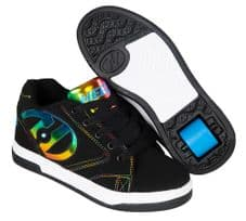 Heelys Propel 2 Black/Rainbow Foil- Size Junior UK 12