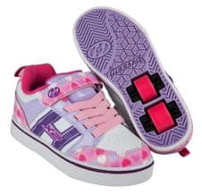 Heelys X2 Bolt Plus Light Pink-Lilac-Hearts - Size UK 3