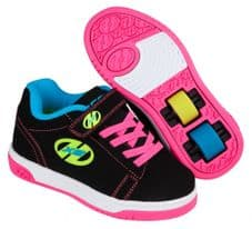 HEELYS X2 DUAL UP BLACK-NEON MULTI - Size UK 3