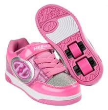 Heelys X2 Plus Lighted - Neon Pink/Light Pink/Silver - Size UK 1