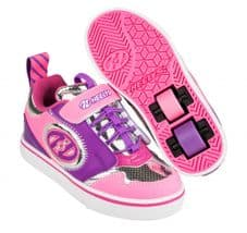 Heelys X2	Rocket X2 Pink/Silver/Purple - Size UK 2