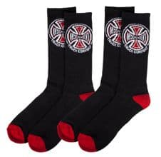 Independent Socks Truck Co. (x2 Pairs) Black OSFA ADULT Size UK 8-11