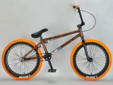 Kush 2+ Orange Splatter complete 20 Inch Mafia BMX bike