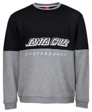 Santa Cruz Black/Dark Heather SCS Crew Sweatshirt - eXtra eXtra Large