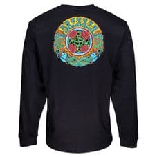 Santa Cruz Dressen Roses L/S T-Shirt Black - Large Adult