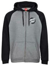 Santa Cruz Other Dot Zip Hood Black/Dark Heather - Medium Adult