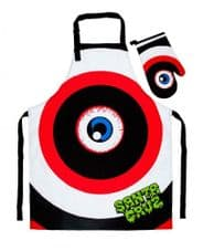 Santa Cruz Skateboards Rob Eye Barbecue BBQ Set Apron With Mit Black/Red/White