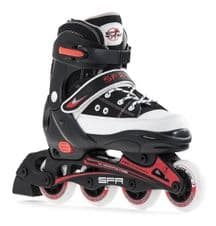 SFR CAMDEN ADJUSTABLE INLINE SKATES - BLACK/WHITE
