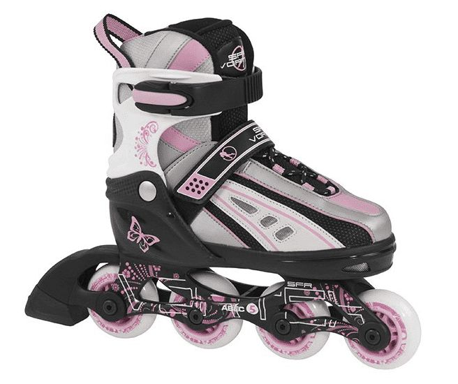 SFR Vortex Adjustable Inline Skates Pink