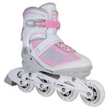 SKATELIFE LAVA ADJUSTABLE INLINE SKATES - PINK/WHITE
