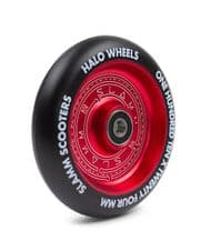 SLAMM 110MM HALO DEEP DISH SCOOTER WHEEL - RED (single wheel)