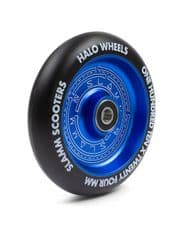 SLAMM 110MM HALO DEEP DISH SCOOTER WHEELS - BLUE (single wheel)