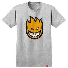Spitfire Bighead Fill T Shirt Athletic Heather/ Yellow - Medium Adult