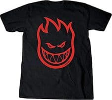 Spitfire Bighead T-Shirt Black/Red Small Adult