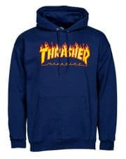 Thrasher Hoody Flame Logo Navy - Small Adult - RRP Price £69.99 ALLEYOOPS Price £64.95