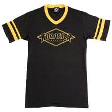 Thrasher OG Diamond Ringer - Black/Gold - Medium Adult