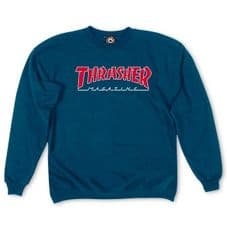 Thrasher Outlined Crewneck  - RRP £49.99 - Alleyoops Price £44.99 - eXtra Large Adult