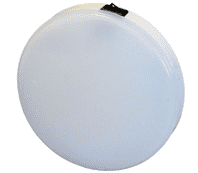 117 White LED Round White Roof Lamp with Switch - 340lm, 12/24V-0-668-13