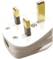 13Amp White nylon plug top fitted with 13A fuse  ALT/EC3-02<BR><BR>