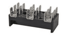 3 x 6-Way Bus Bar with 6.3mm Common Plated Brass Blade Terminals - 25A-0-005-53