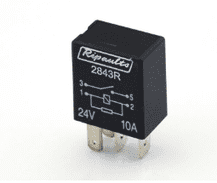4 Pin automotive type 10 Amp WITH RESISTOR   24 Volt  MICRO relay       <br>ALT/RY2843R-09
